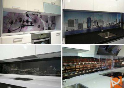 Decoración Frontal de cristal para cocinas hogar