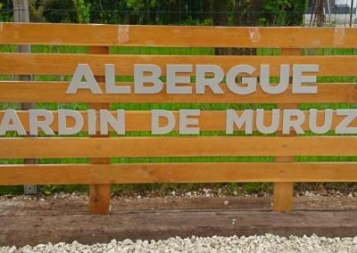 Letras corpóreas El Jardín de MURUZABAL